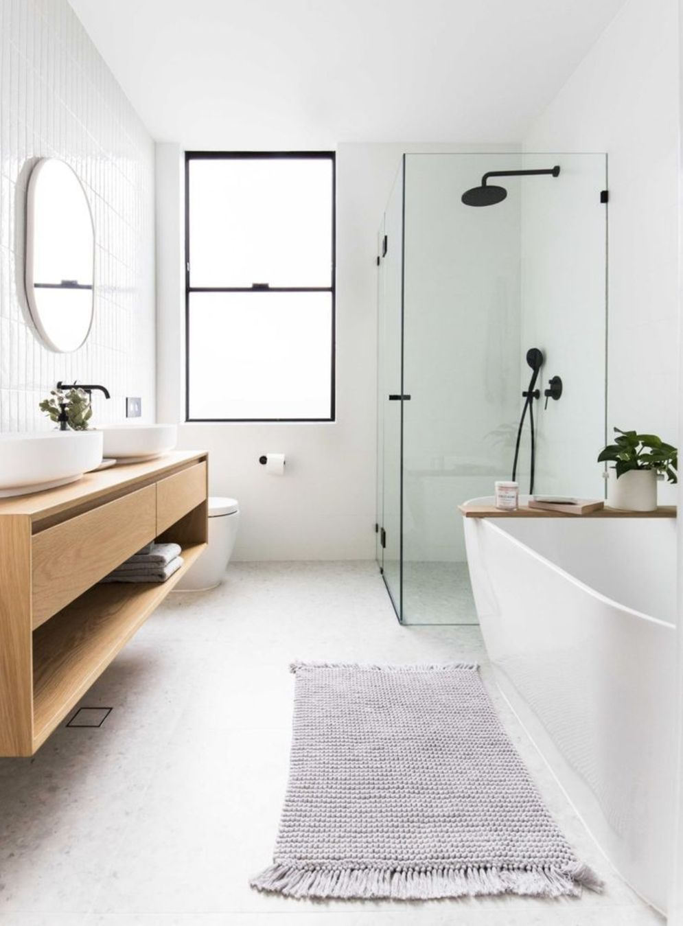 Most savvy bathroom designs with elegant wood finish to give more natural feel Image 12