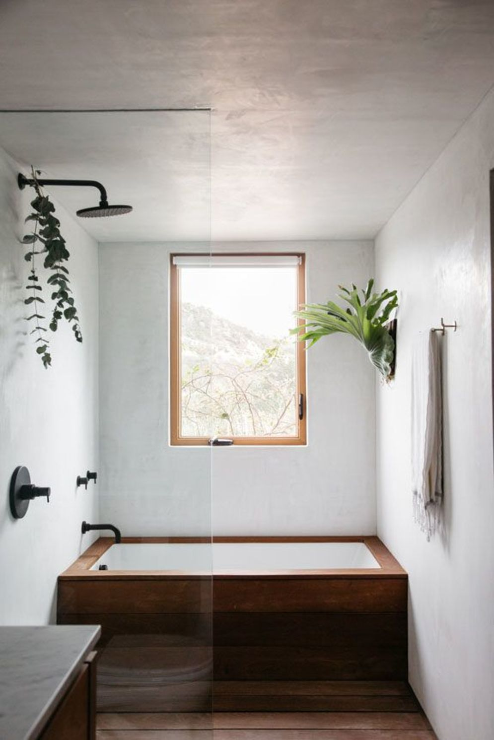 Most savvy bathroom designs with elegant wood finish to give more natural feel Image 2