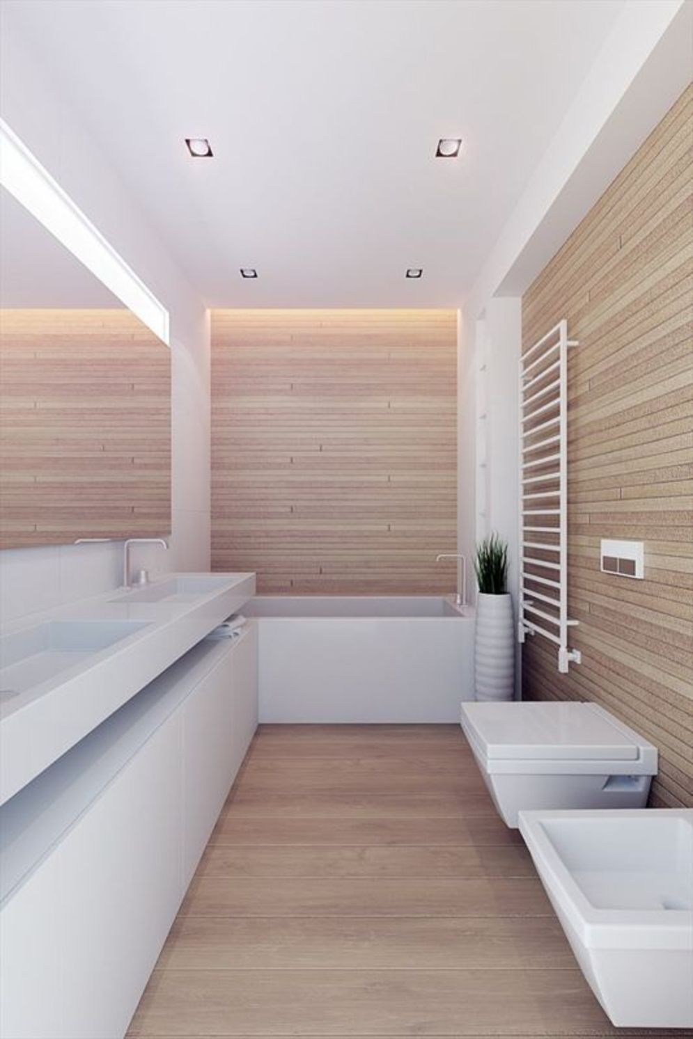 Most savvy bathroom designs with elegant wood finish to give more natural feel Image 5