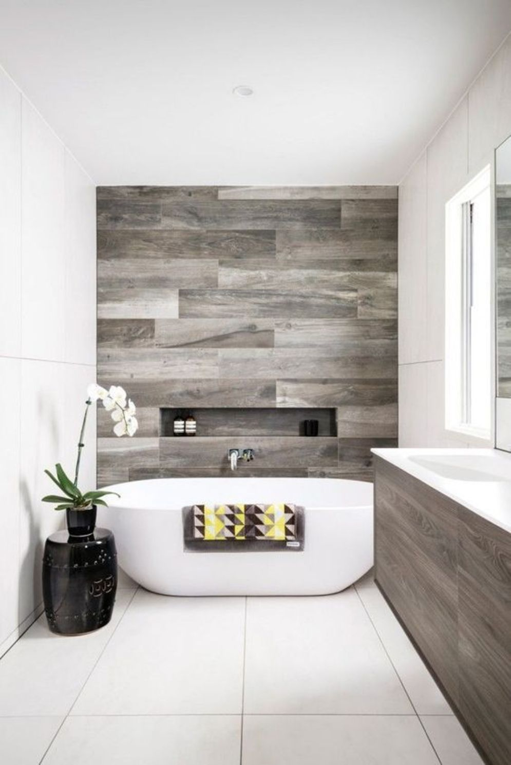 Timeless bathroom designs with wood accents enhancing more natural vibes Image 29