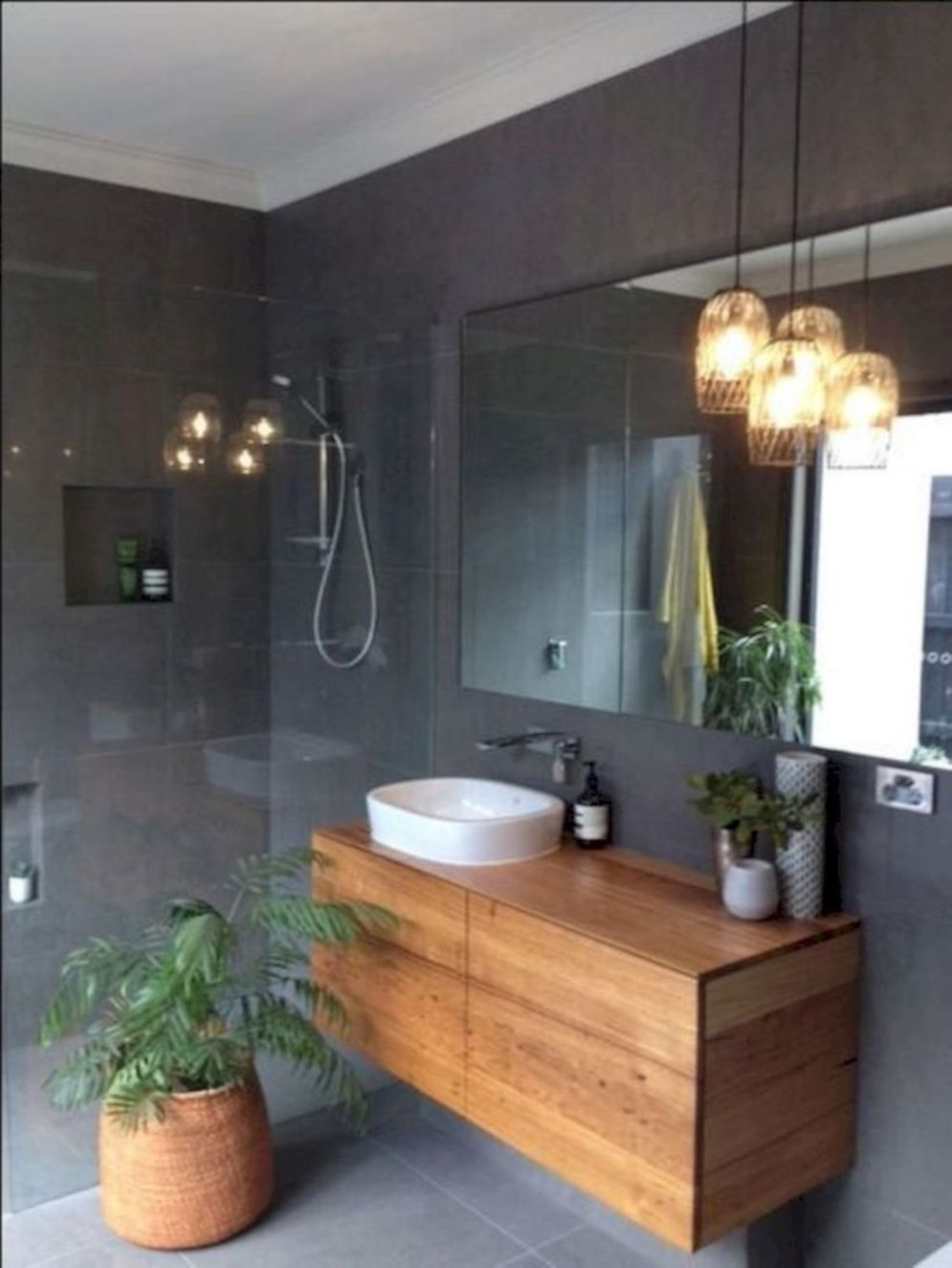 Timeless bathroom designs with wood accents enhancing more natural vibes Image 35