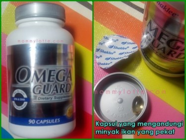 botol dan kapsul omega guard