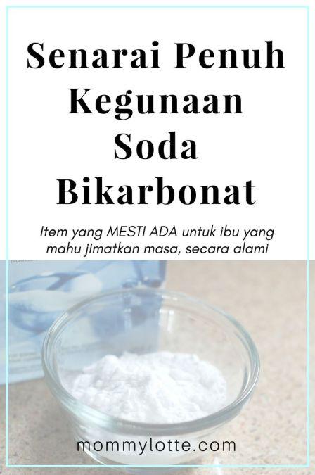 kegunaan soda bikarbonat, rumah, kecantikan, kesihatan, gastrik