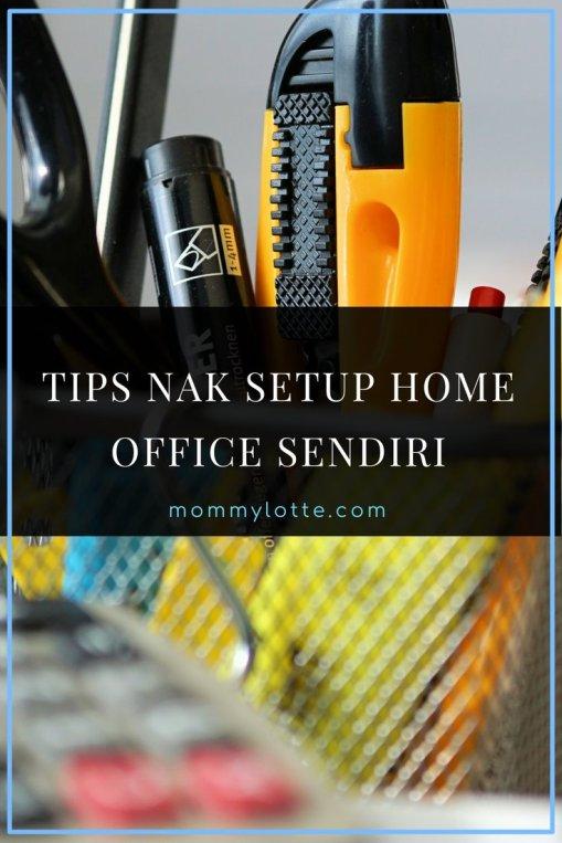 setup home office, bisnes online, jana duit, WAHM