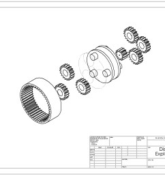 planetary gear train exploded view [ 1733 x 1018 Pixel ]