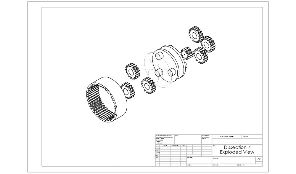 medium resolution of planetary gear train exploded view