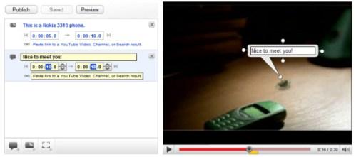Anotaciones de Youtube en modo edición
