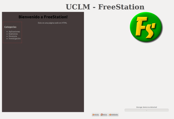 FreeStation Client - Welcome wigdets configured