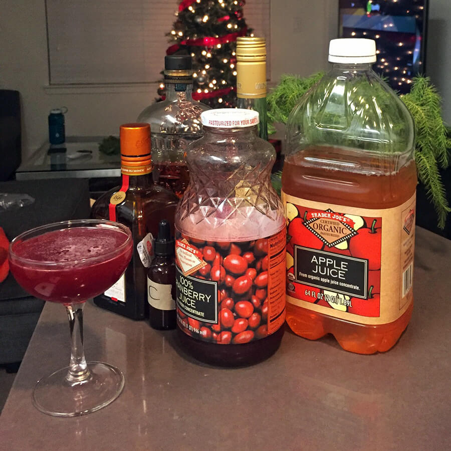 Christmas Sour Christams Cocktail
