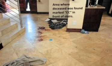 blood on floor downstairs 2