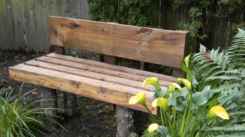 un banc de jardin en bois diy shake