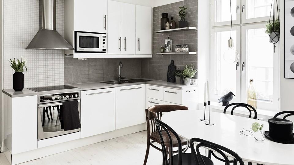 cuisine blanche en bois