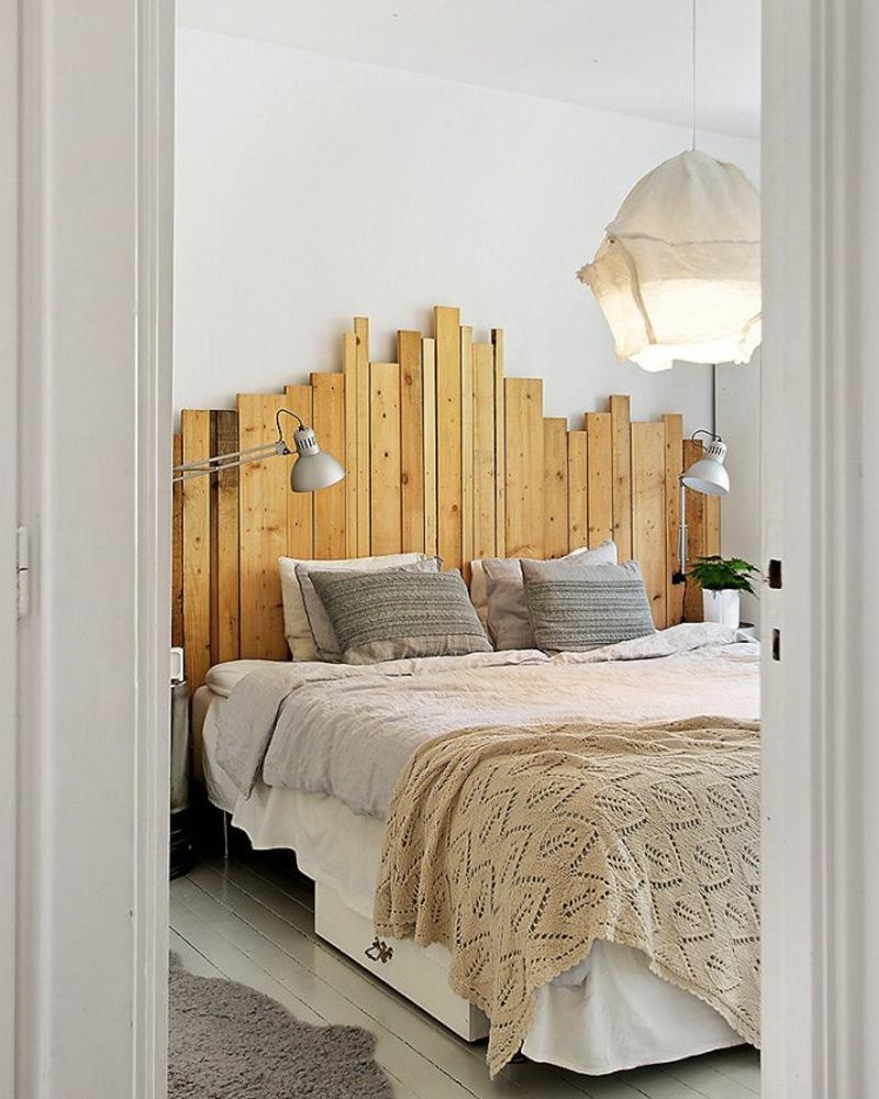 tete de lit en bois de palette tete de lit palette. Black Bedroom Furniture Sets. Home Design Ideas