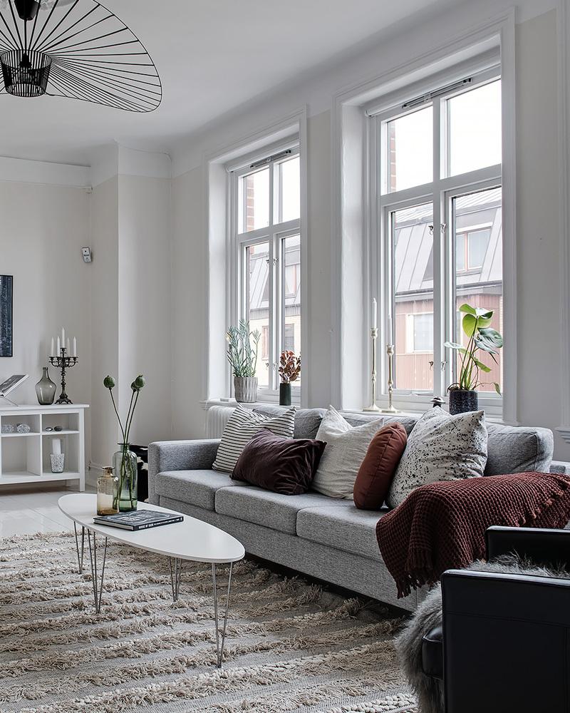 Comment dcorer votre salon avec le gris et le blanc   Shake My Blog