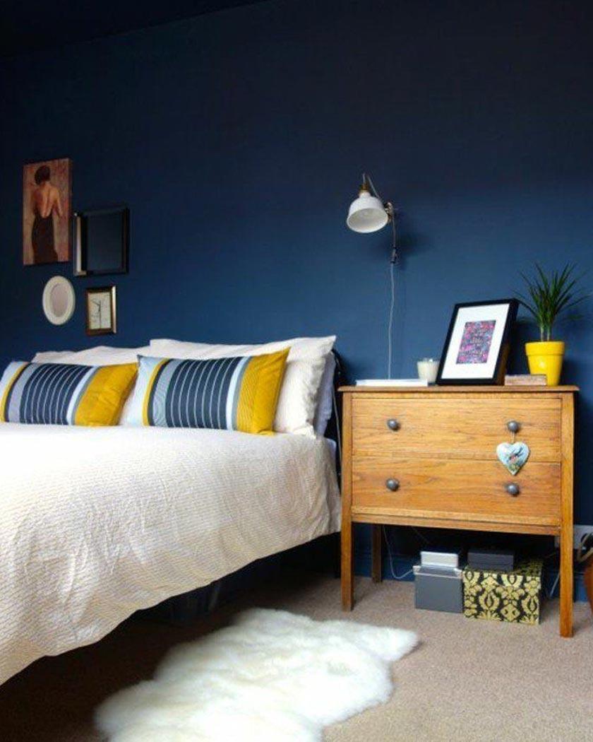 Chambre Jaune Moutarde Les Coloris à Associer Clemaroundthecorner · Chambre  Bleu Canard ...