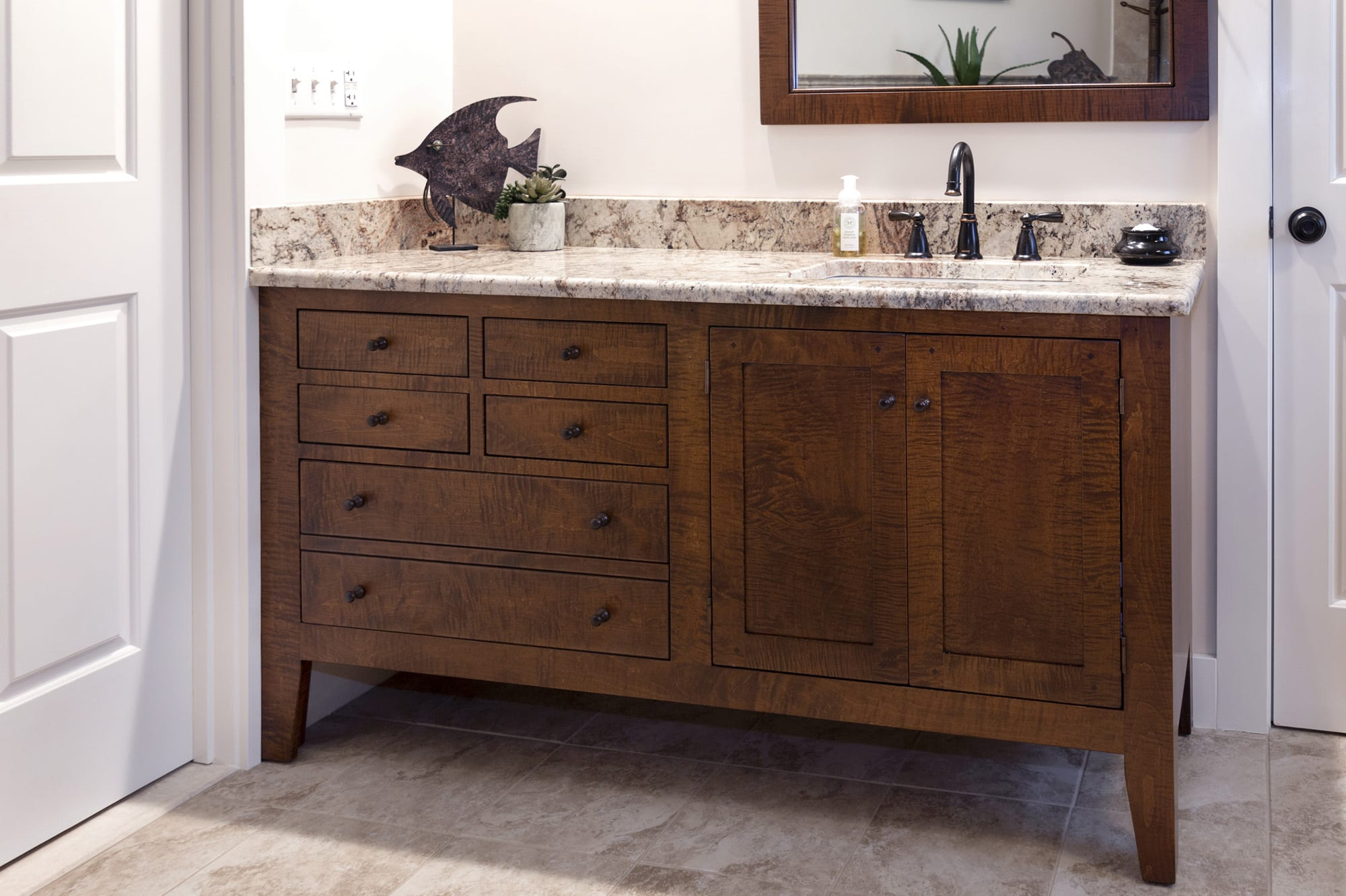 High End Bathroom Vanities Shaker Style Bathroom Vanities Of High Quality In Tiger Maple
