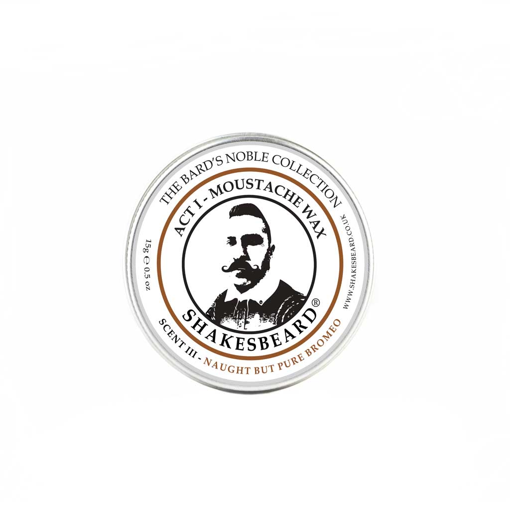 Classic Cedarwood Moustache Wax 15g Naught But Pure Bromeo