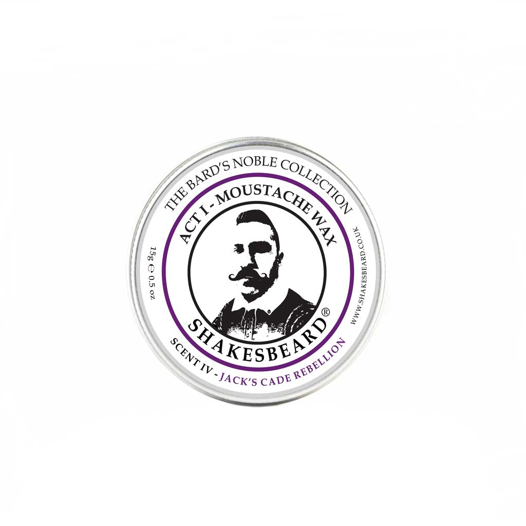 Rich Fruity Fig & Blackcurrant Moustache Wax 15g Jacks Cade Rebellion