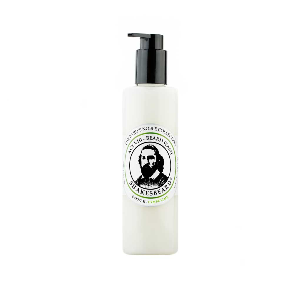 Vibrant Bergamot Citrus Lemon Zesty Lime Beard Wash 250g Cymbelime