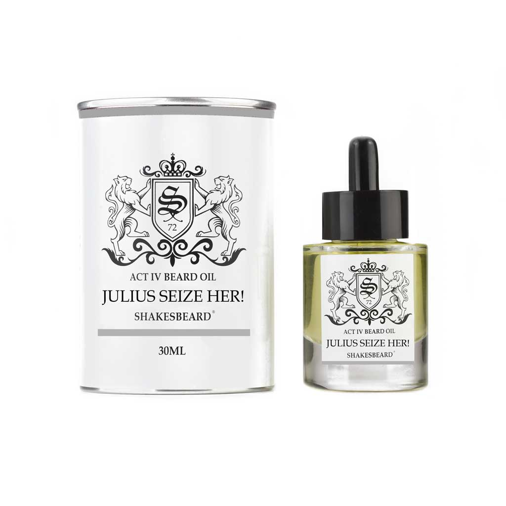 Shakesbeard Beard Care Mandarin Ginger Coconut Ultra Premium Beard Oil 30ml Julius Seize Her!