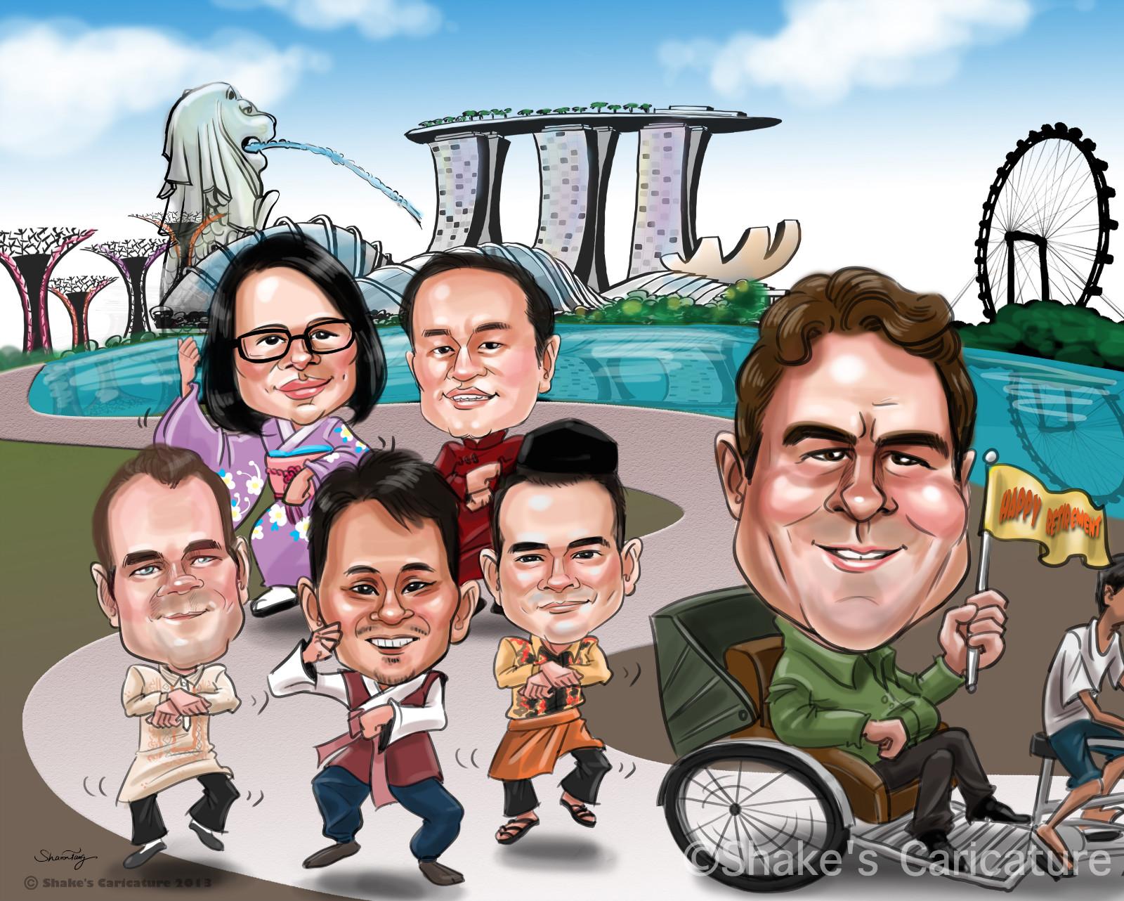 Custom Caricatures Shake's Caricature