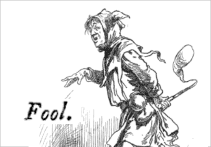 KING LEAR character: The Fool—Illustrated by Gordon Browne