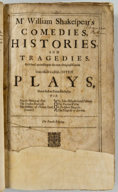 Maggs Bros 4th Folio_Titlepage