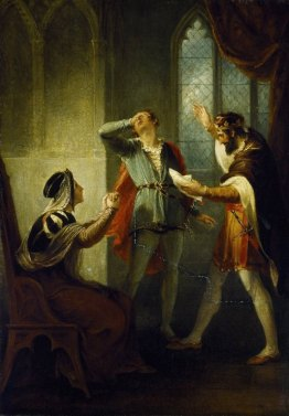 William Hamilton. The Duke of York discovering his son Aumerle's treachery. Oil on canvas, comissioned for the Boydell Shakespeare Gallery, late 1790s