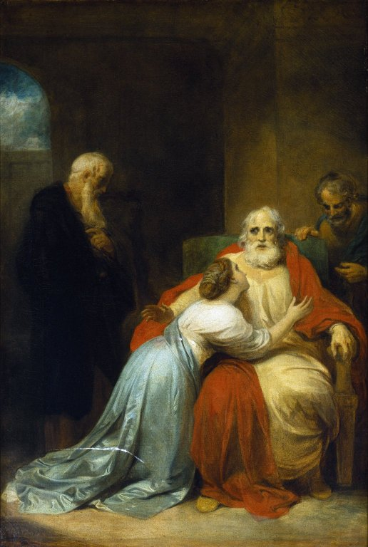 Robert Smirke. The Awakening of King Lear. Oil on canvas, commissioned for the Boydell Shakespeare Gallery, ca. 1792