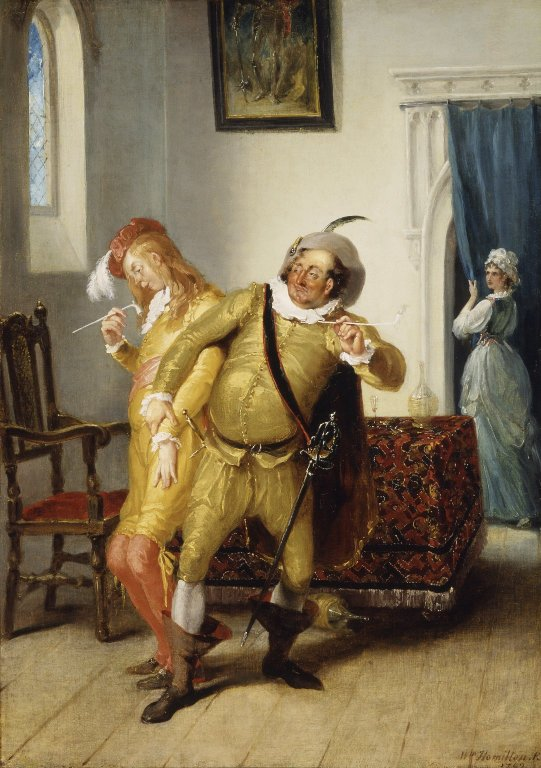 William Hamilton. The carousing of Sir Toby Belch and Sir Andrew Aguecheek. Oil on canvas, 1792