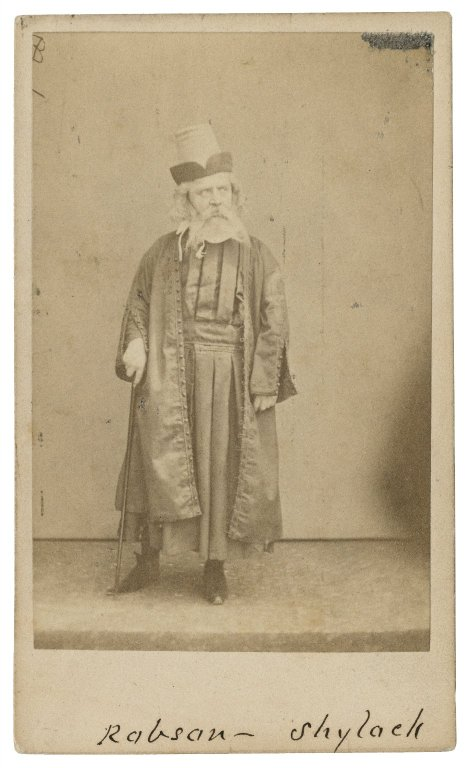 Frederick Robson as Shylock