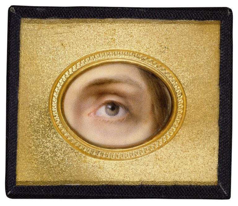 Mrs. Young. Charlotte Cushman's Eye. Miniature on ivory, 19th century. Folger Shakespeare Library.