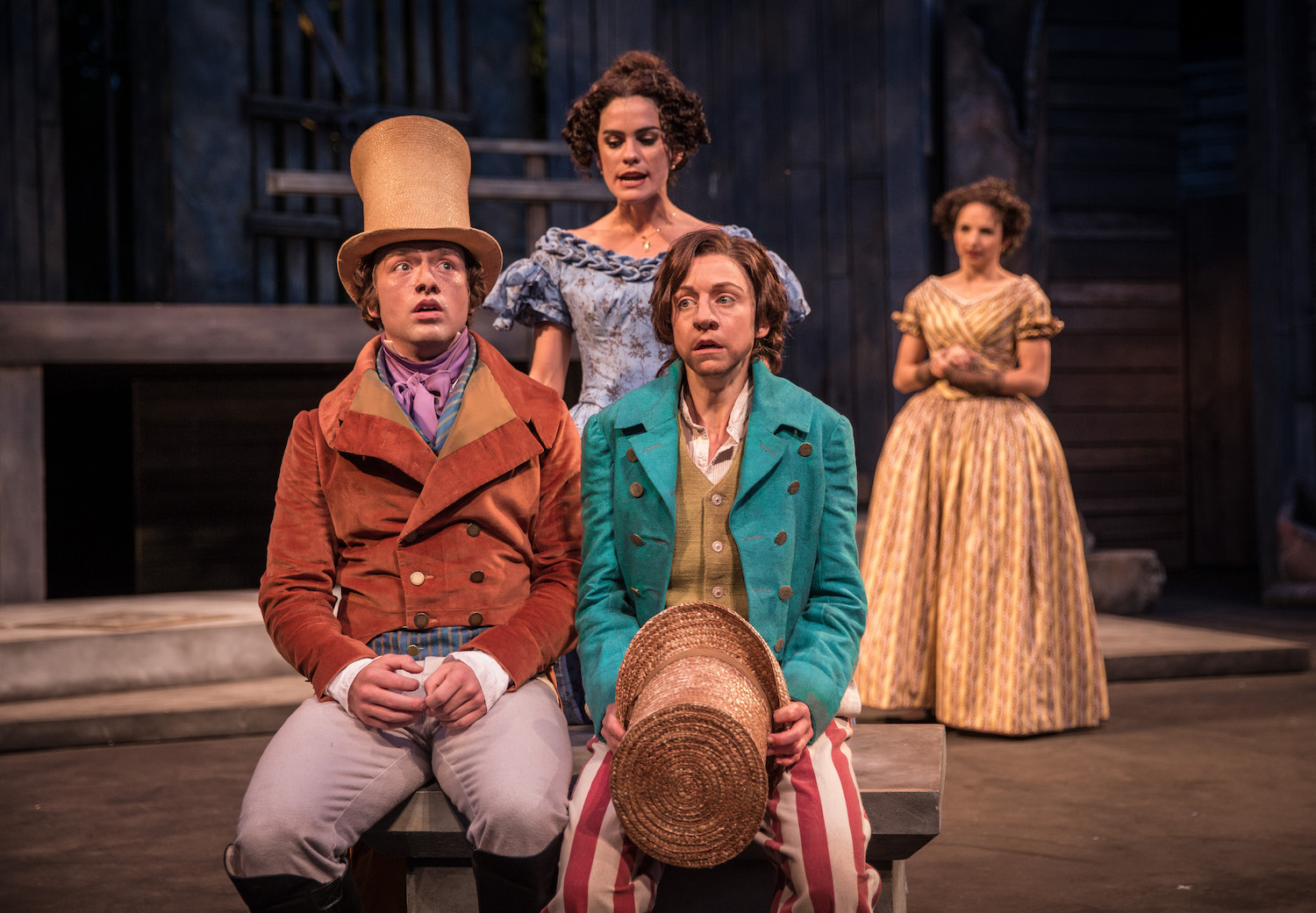 American Players Theatre. Casey Hoekstra, Cristina Panfilio, Melisa Pereyra and Laura Rook, The Comedy of Errors, 2016. Photo by Liz Lauren.
