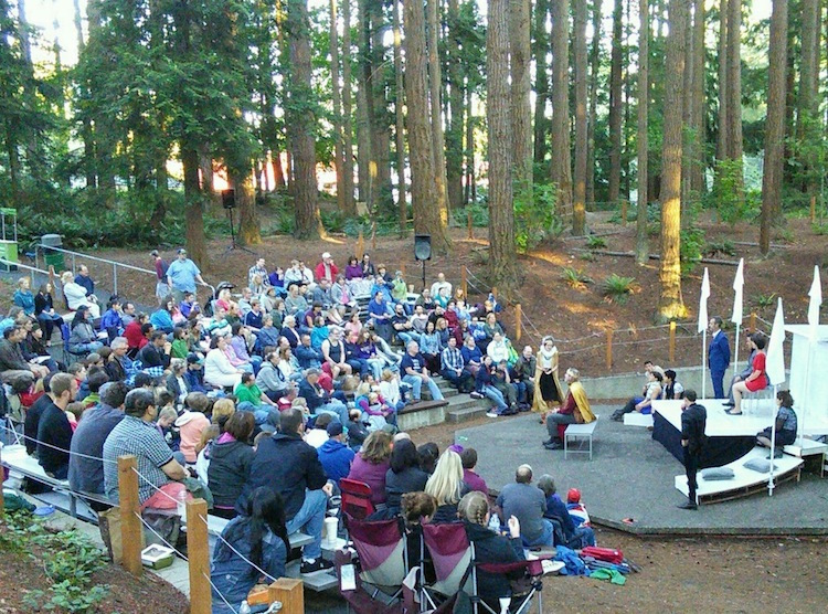 Seattle Shakespeare Company, Wooden O, Free Shakespeare in the Parks, Hamlet. 2016