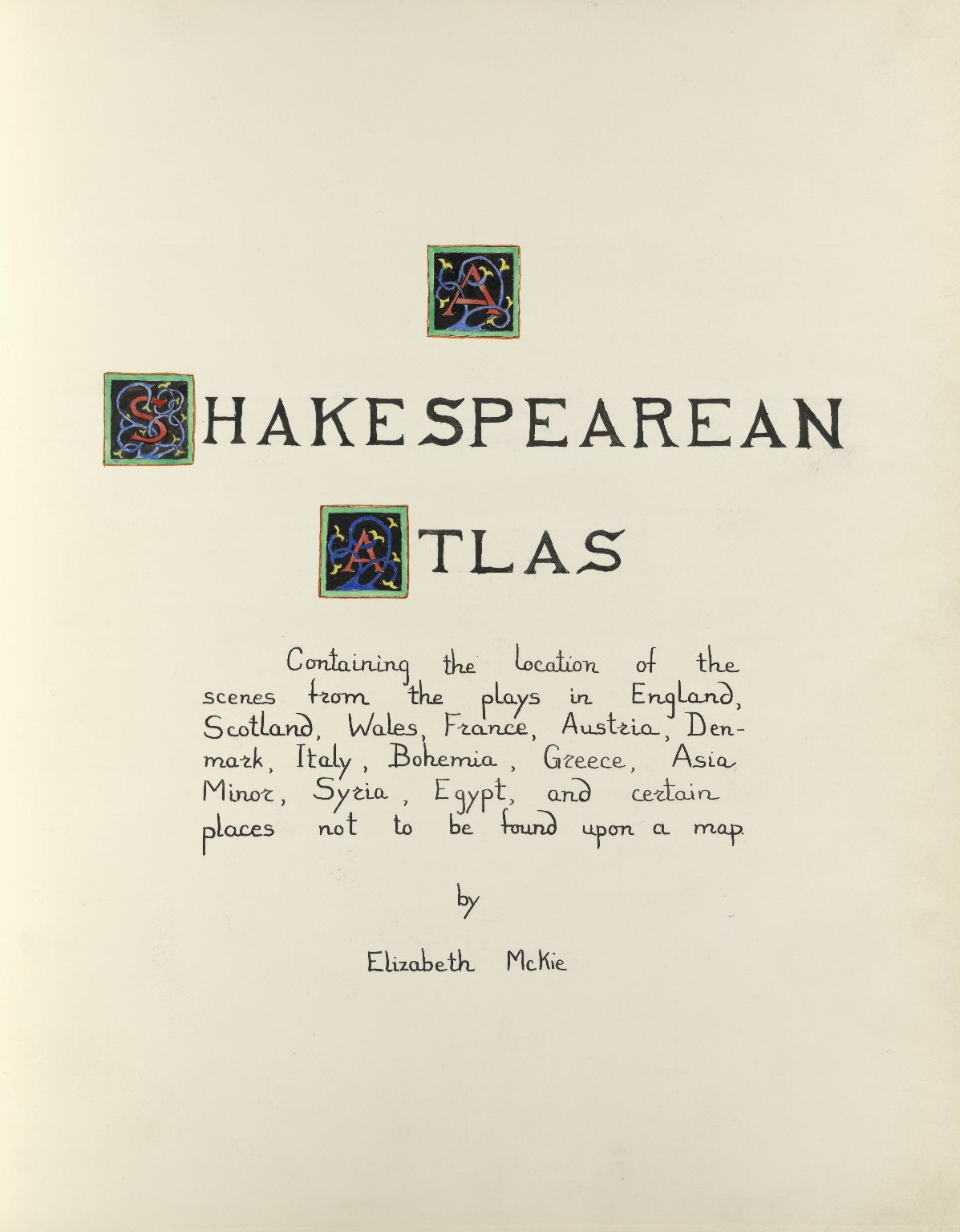 Shakespearean atlas