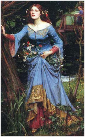 John William Waterhouse, Ophelia, 1910