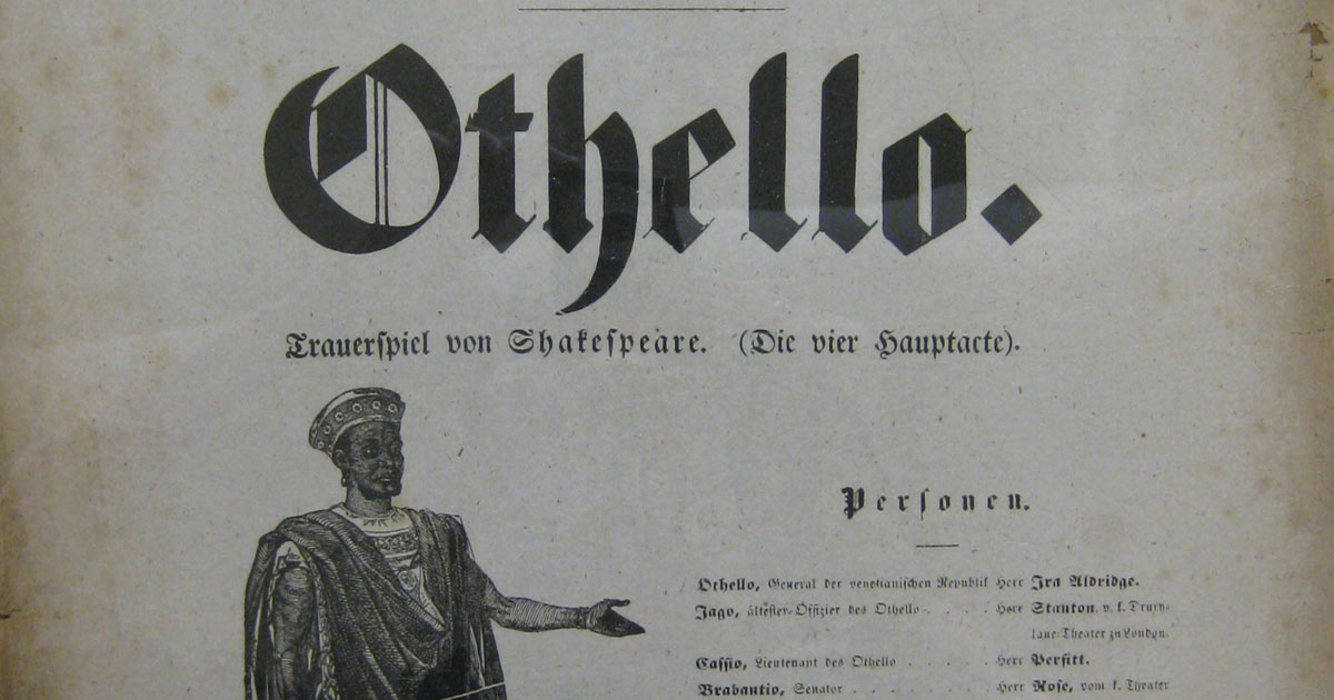 Ira Aldridge Othello playbill