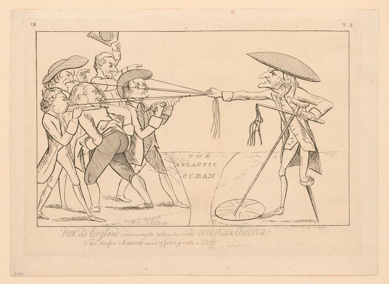 British political cartoon during the American Revolution