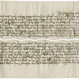 The 1602 buyer and vendor copies of the final concord when Shakespeare purchased New Place, his house in Stratford-upon-Avon