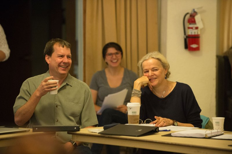 Dave Hitz and Ellen McLaughlin, Oregon Shakespeare Festival, at a reading of Pericles in October 2015.