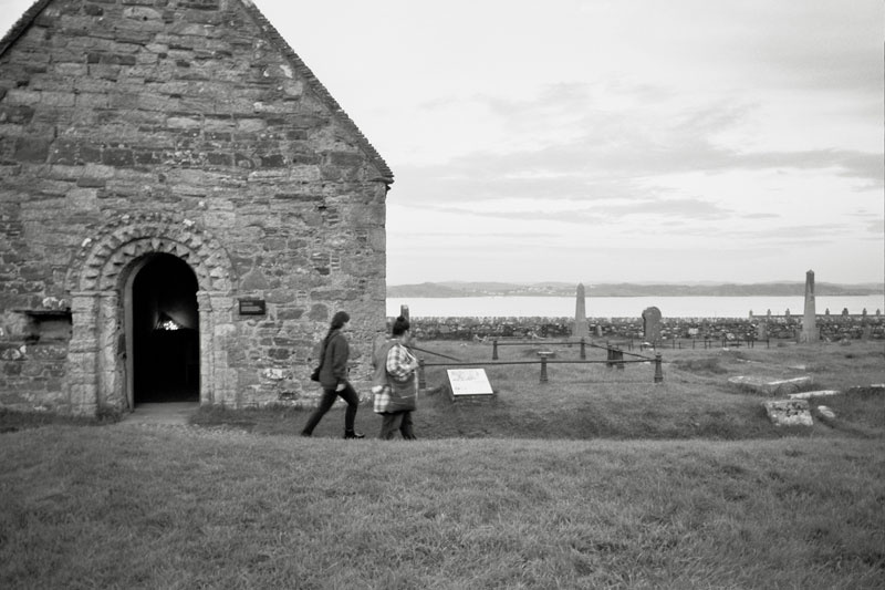 Iona graveyard where Macbeth is supposedly buried