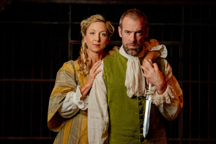 Ian Peakes and Kate Eastwood Norris as the tragically ambitious Macbeths. Photo by Brittany Diliberto.