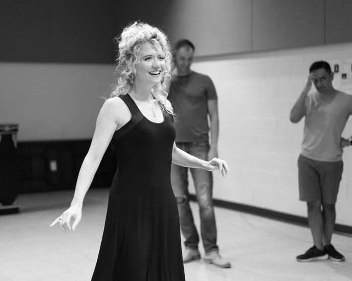 """Actress Scarlett Strallen (Nell) rehearses for """"Nell Gwynn"""" at the Chicago Shakespeare Theater."""