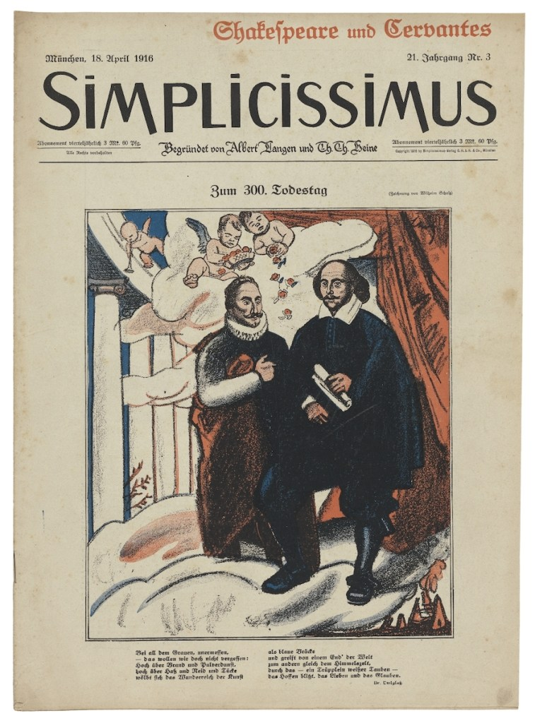 Simplicissimus. Shakespeare and Cervantes edition. April 18, 1916. Folger Shakespeare Library.