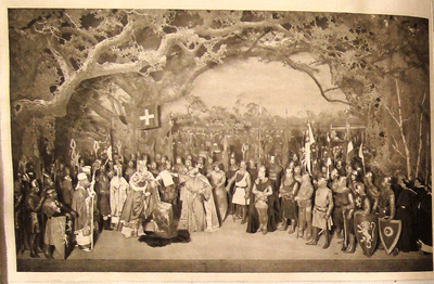 Magna Carta tableau, Beerbohm-Tree stage production of King John. University of Bristol Theatre Collection, Internet Shakespeare site.