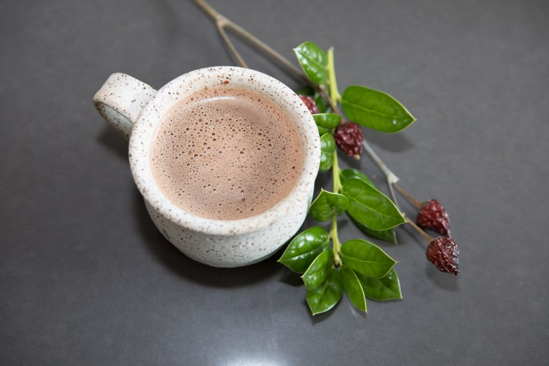 Finished hot chocolate. Photo by Teresa Wood.