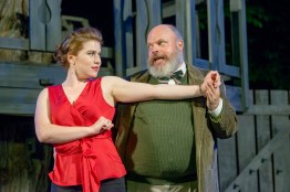 MIstress Ford and Falstaff dance in 'The Merry Wives of Windsor' at Door Shakespeare