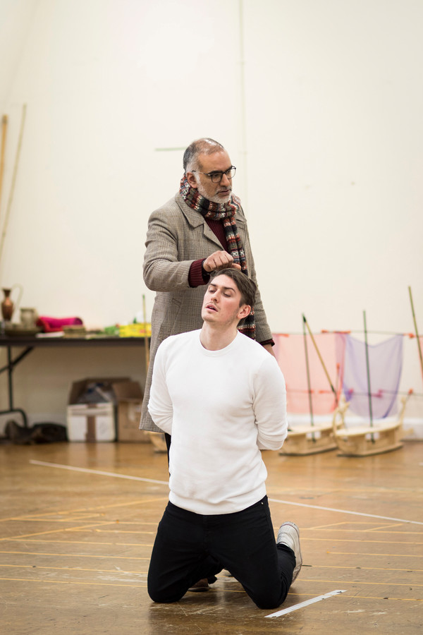 "Iqbal Khan in rehearsal for ""Antony and Cleopatra"" at the Royal Shakespeare Company."