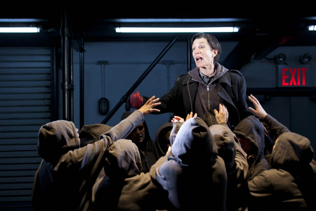 Harriet Walter as Brutus in Julius Caesar.