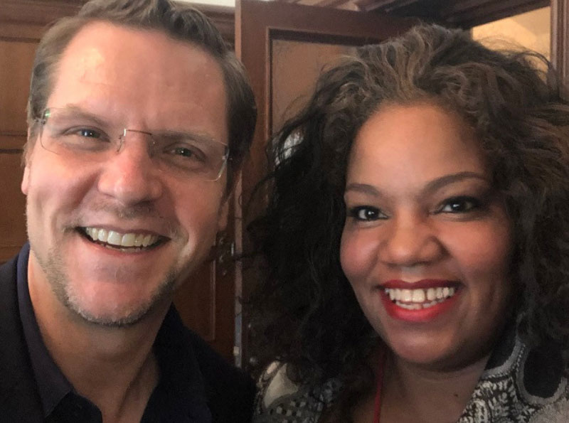 Folger Director Michael Witmore with Debra Ann Byrd